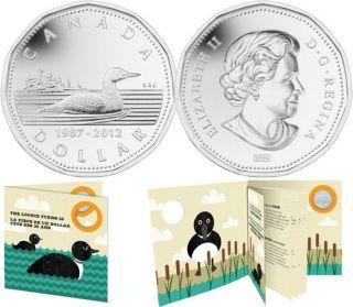 2012 - Dollar plaqué argent - 25e anniversaire de la pièce de un dollar