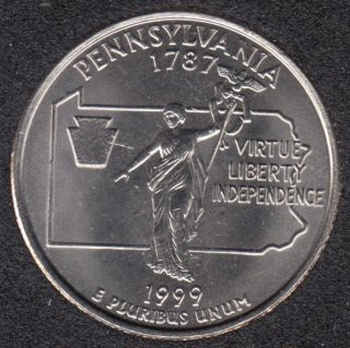 1999 D - Pennsylvania - 25 Cents