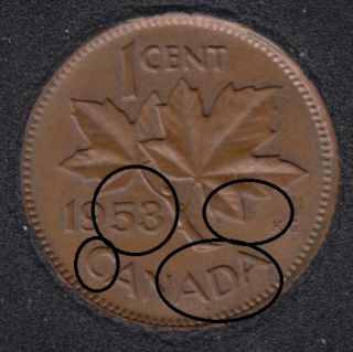 1953 - NSF - Double 53, CADA, ML, Branch & Hanging 3 - Canada Cent
