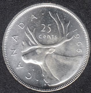 1965 - B.Unc - Canada 25 Cents