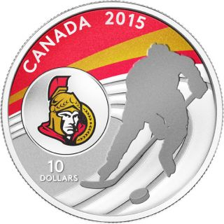 2015 - $10 - 1/2 oz. Fine Silver Coin - Ottawa Senators®