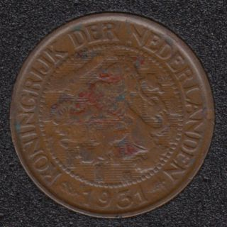 1931 - 1 Cent - Pays-Bas