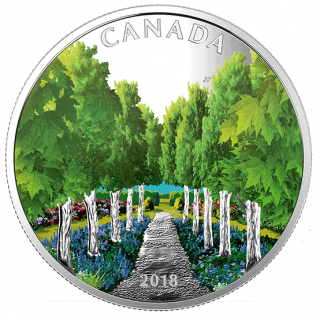 2018 - $20 - 1 oz. Pure Silver Coin - Maple Tree Tunnel