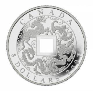 2007  $8 - Canada piece chinoise en argent fin - Sans Taxe