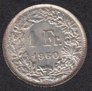 1960 B - 1 Franc - AU - Switzerland