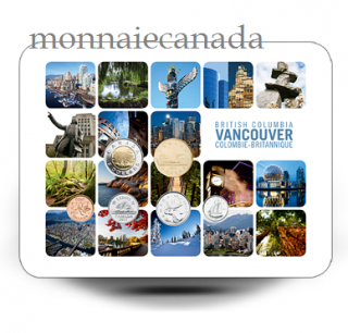 2011 Vancouver Coin set Collection Card