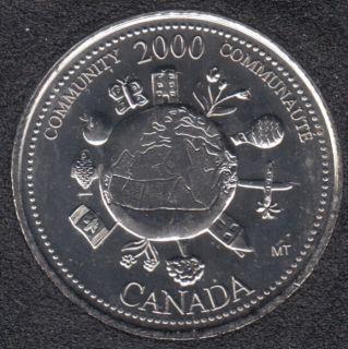 2000 - #912 B.Unc - Communauté - Canada 25 Cents