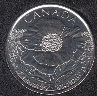 2015 - B.Unc - Coquelicot - Canada 25 Cents