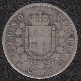 1863 MBN - 50 Centisimi - Italy