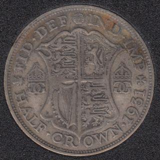 1931 - Half Crown - Grande Bretagne