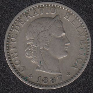 1887 B - 20 Rappen - Switzerland