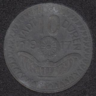 1917 - 10 Pfennig - War Coinage - Westp - Stadt Duren - Allemagne