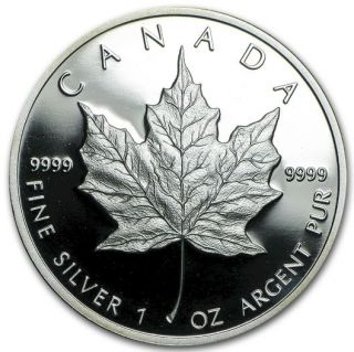 1989 Canada Silver Maple Leaf Proof 10th Anniversary