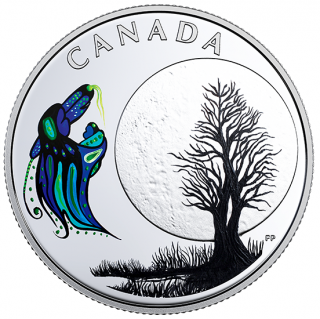 2018 - $3 - Pure Silver Coloured Coin - Thirteen Teachings From Grandmother Moon: Big Spirit