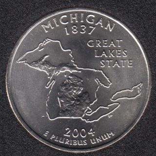 2004 D - B.Unc - Michigan - 25 Cents