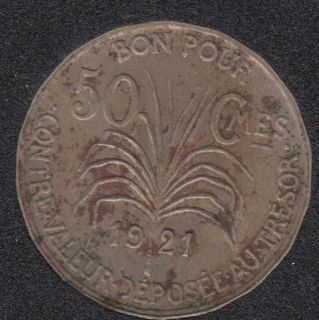 1921 - 50 Centimes - Guadeloupe