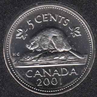 2001 - B.Unc - Canada 5 Cents