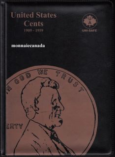 US Coins 1 Cent Album  1909-1959