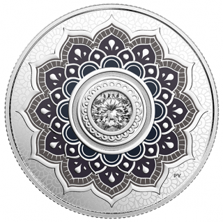 2018 - $5 - April Birthstone - Pure Silver Coin made with Swarovski® Crystal