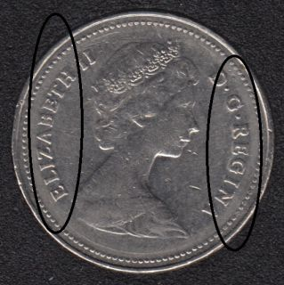 1980 - Bold Letter - Canada 5 Cents