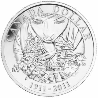 2011 - Brilliant Silver Dollar - 100th Anniversary of Parks Canada