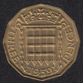 1959 - 3 Pence - Great Britain