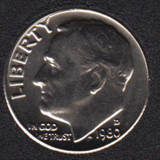 1980 D - Roosevelt - B.Unc - 10 Cents