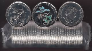 2017 Canada 25 Cents - Hope for a Green Future - BU ROLL 40 Coins - UNC
