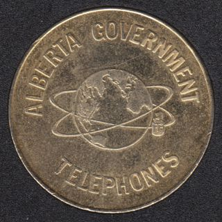 Telephone - Alberta Government Telephones - Conversation $5.00 for a Long Distance Visit