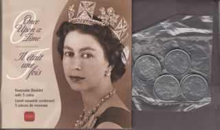 2002 -  Keepsake Booklet With 5 coin Once Upon a Time