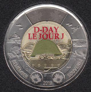 2019 - B.Unc - D-Day - Col. - Canada 2 Dollars
