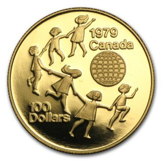 1979 Canada $100 Gold 22 K - International Year of the Child