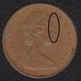 1969 - Double 'Tête' - Canada Cent