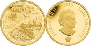 2013 - $2500 - Pièce de un kilo en or pur - Bataille de Châteauguay et bataille de la ferme Crysler