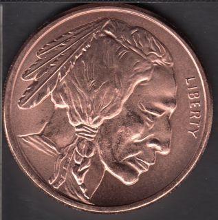 Indian Head & Buffalo - 1 oz .999 Fine Copper