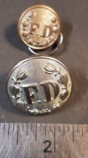 "#107 ""FD"" Fire Department Uniform 2 Buttons"