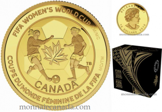 2015 - $75 - 1/4 oz. Pure Gold Coin - FIFA Women's World CupTM/MC : The Soccer Ball