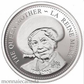 2002 Canada - La Reine mere - Dollar en argent sterling proof