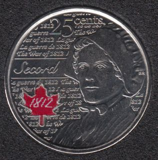 2013 - B.Unc - Laura Secord Col. - Canada 25 Cents