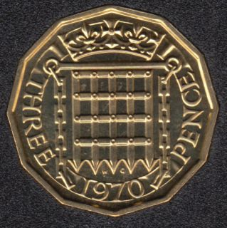 1970 - 3 Pence - Proof - Great Britain