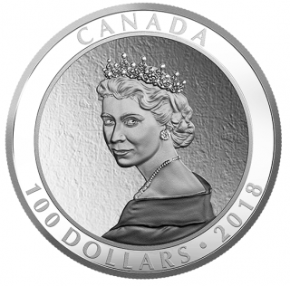2018 - $100 - 10 oz. Pure Silver Coin - Portrait of a Princess