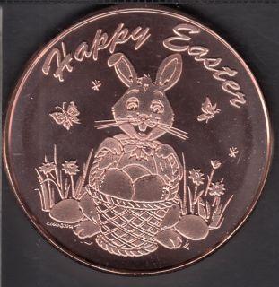 Happy Easter - 1 oz 999 Fine Copper