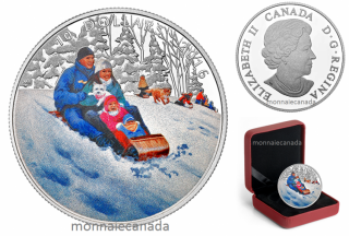 2016 - $10 - 1/2 oz. Fine Silver Coloured Coin – Winter Fun