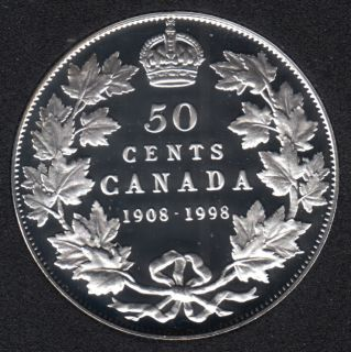 1998 - 1908 - Proof - Silver - Canada 50 Cents