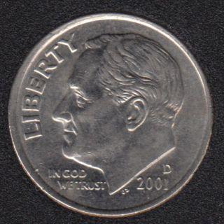 2001 D - Roosevelt - B.Unc - 10 Cents