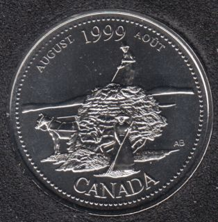 1999 - #8 NBU - Août - Canada 25 Cents