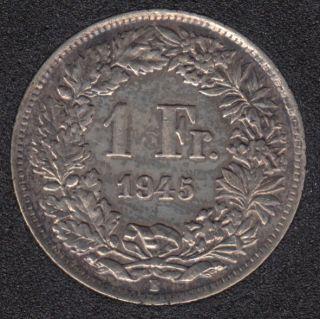 1945 B - 1 Franc - Polished - Switzerland