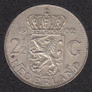 1962 - 2 1/2 Gulden - Pays-Bas