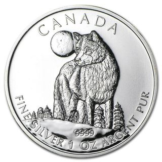 2011 - 1 oz Canada en Argent Fin - Loup - Sans Taxe