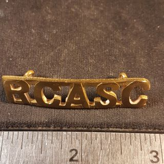 #139 RCASC WW2 Royal Canadian Army Service Corps RCASC Canada Shoulder Title Badge